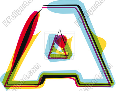 400x315 Abstract Colorful Letter A Royalty Free Vector Clip Art Image