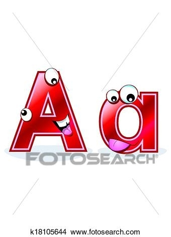 340x470 Clipart Of Cartoon Letter Aa K18105644 Search Clip Art