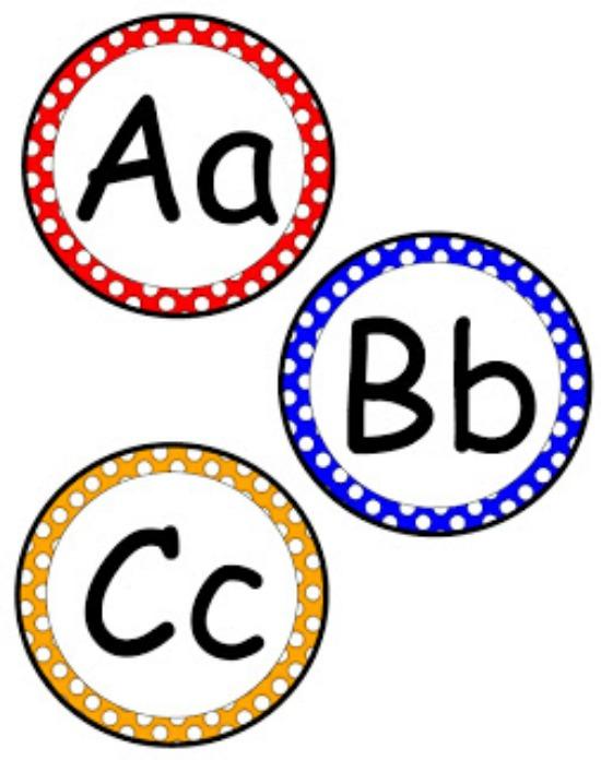 550x696 Printable Alphabet Cliparts