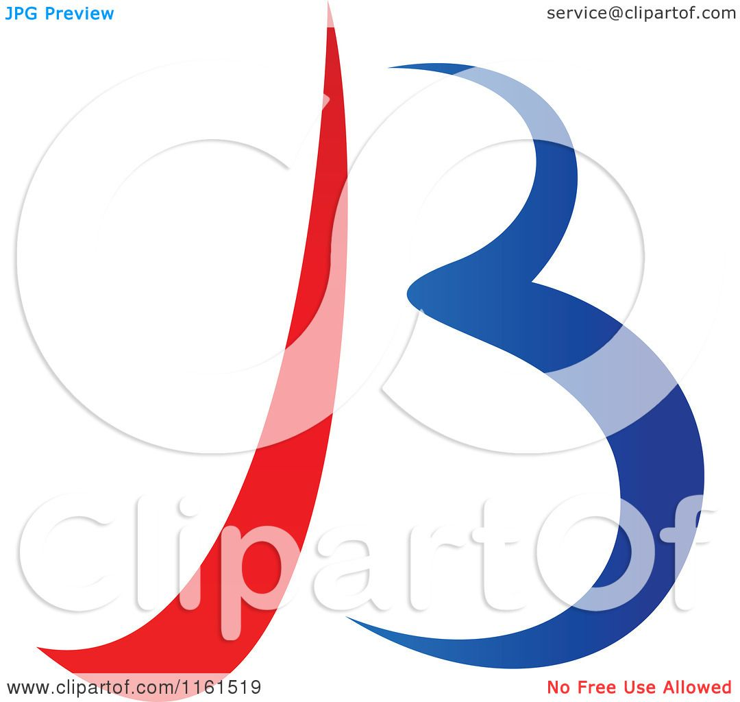 1080x1024 Clipart Of An Abstract Letter B Version 8