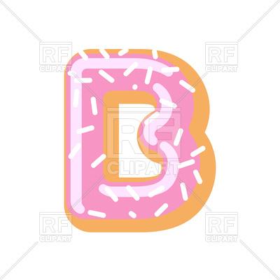 400x400 Donut Letter B