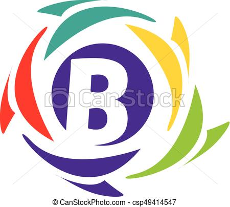 450x404 Initial B Icon. Letter B Logo Within An Colorful Circle Eps