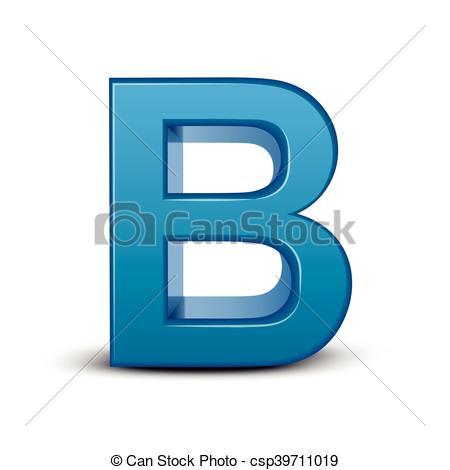 450x470 3d Blue Letter B. 3d Image Blue Letter B Isolated On White
