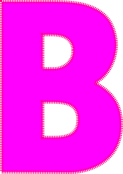 420x593 Letter B Clip Art