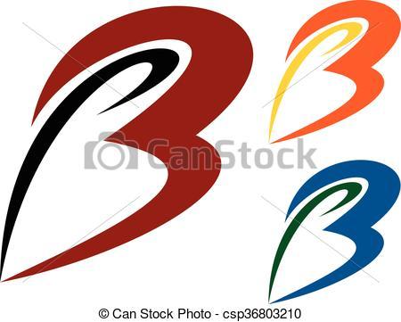 450x361 Letters B Logo Illustration. Logo For Any Business Vector Clip Art