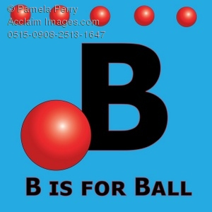 300x300 The Alphabet Letter B Is For Ball Royalty Free Clip Art Picture