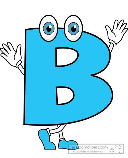446x550 Letter B 2 Cartoon Alphabet Clipart.jpg Alphabetical Letters