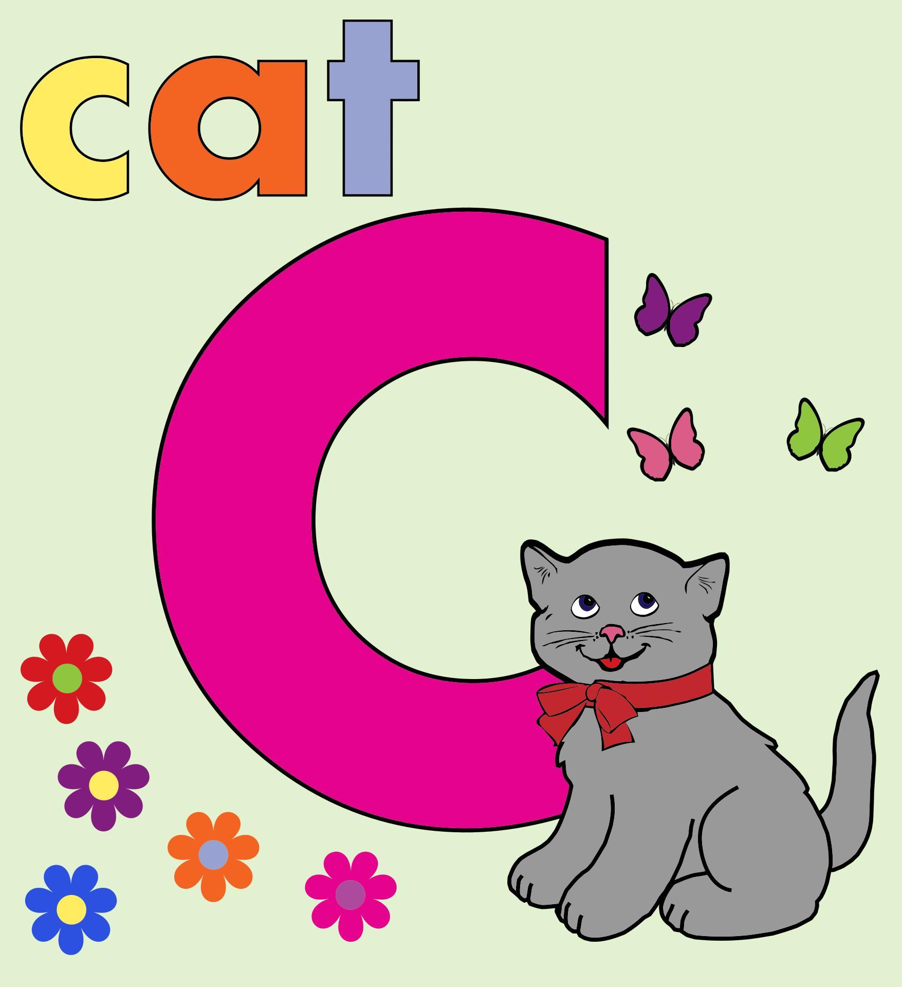 1755x1920 Cat Alphabet Letter C Clipart