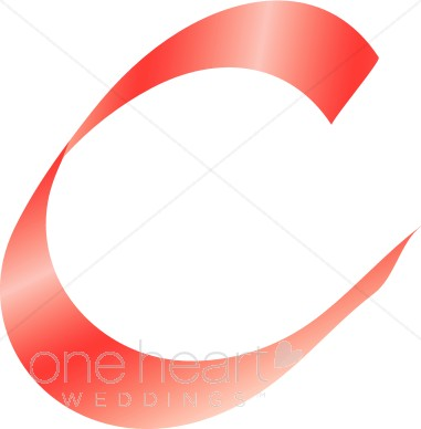 381x388 Clipart Letter C Pink Ribbon Alphabet