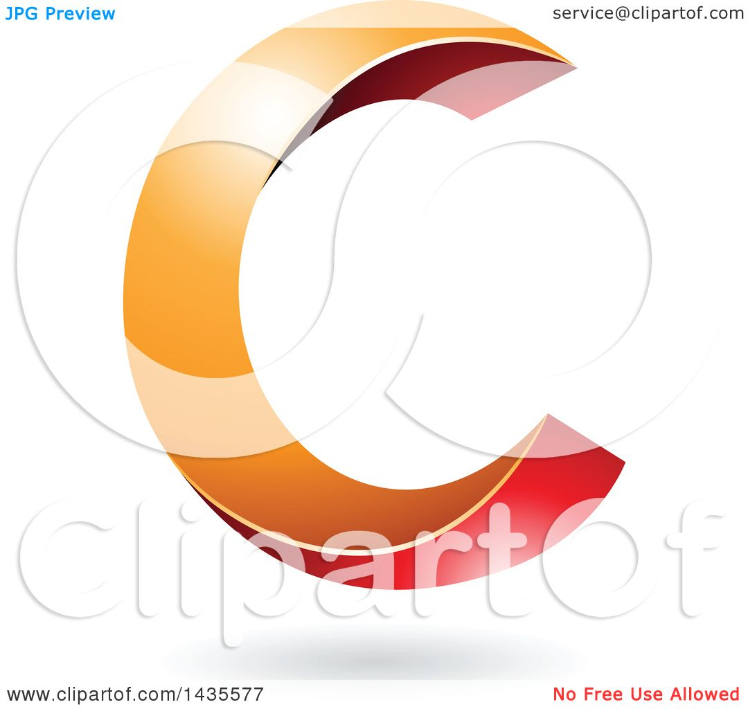 1080x1024 Clipart Of A Twisting Letter C Design With A Shadow