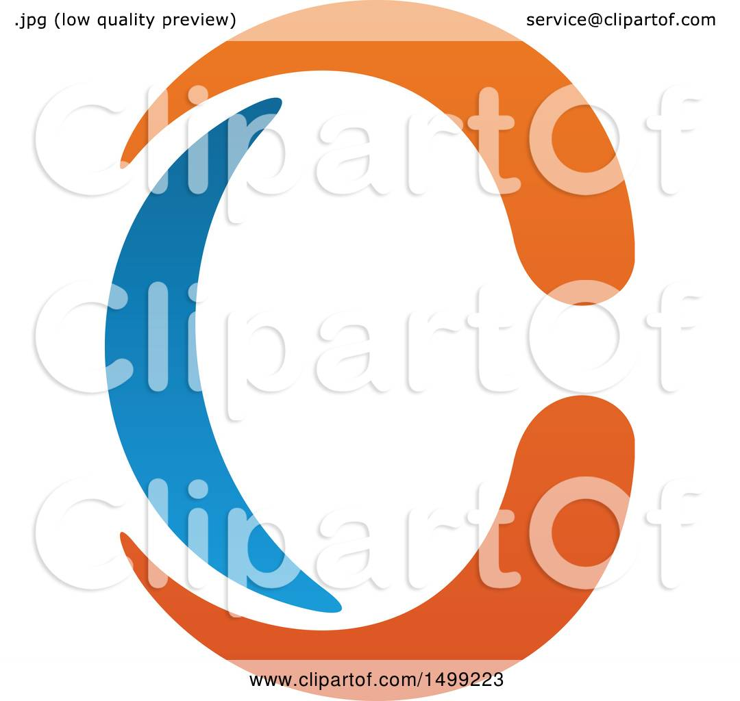 1080x1024 Clipart Of An Abstract Letter C Logo
