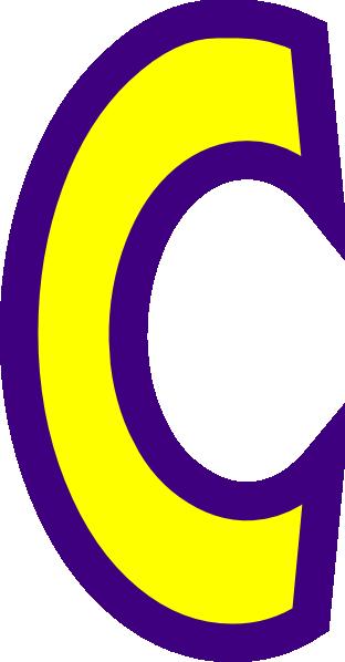312x598 Letter C Clip Art