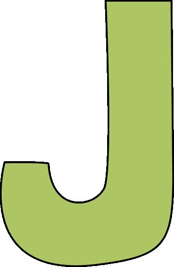 359x550 Classy Letter J Clipart Green Clip Art Image