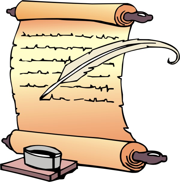 600x607 Letter Clipart Scroll