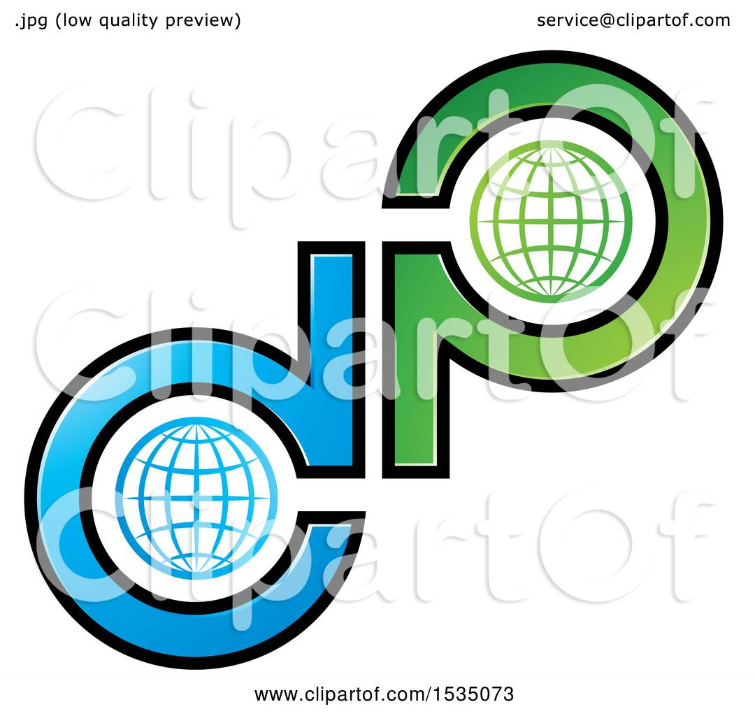 1080x1024 Clipart Of A Letter D And P Globe Design
