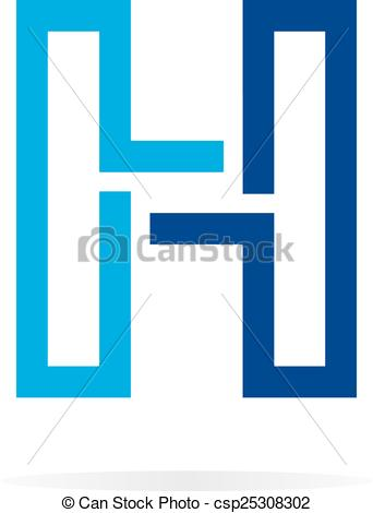 342x470 Logo H Letter For Company Vector Design Template. Vector Vector