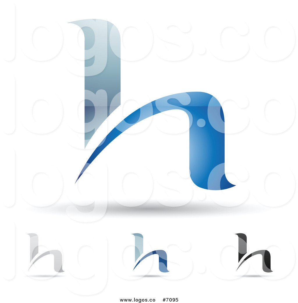 411238f5f84 1024x1044 Royalty Free Clip Art Vector Logos Of Abstract Letter H Designs By