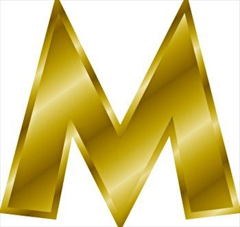 350x331 13 Best M Images On Letters, M Letter And Gold Letters