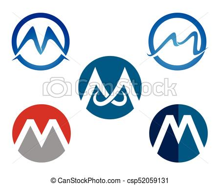 450x380 Letter M Vector Icons Such Logos Template Vectors