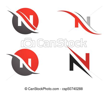 450x380 N Letter Logo Template Vector Icon Vector