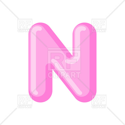 400x400 Pink Letter N