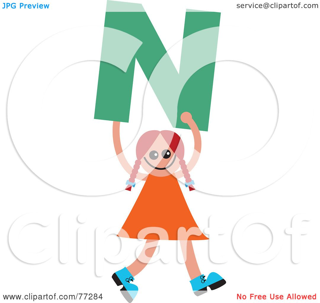 1080x1024 Royalty Free (Rf) Clipart Illustration Of An Alphabet Kid Holding