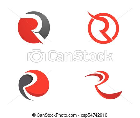 450x379 R Letter Logo Icon Design Template Vector Illustration Vector Clip