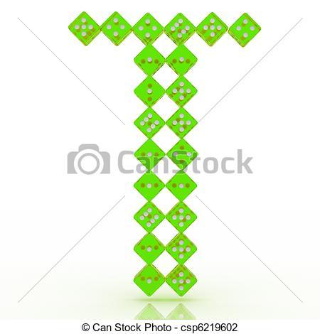 450x470 Dice Font. Letter T. Dice Font Letter T. Green Refractive Clip