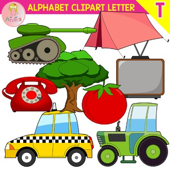 350x350 Alphabet Clip Art Letter T Set By Anika Teachers Pay Teachers
