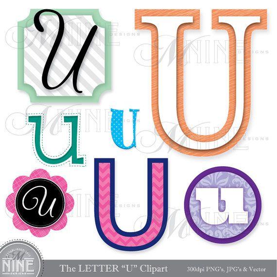 570x570 Letters Clipart Letter U Clip Art Graphics Vector File, Instant