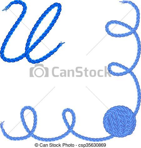 450x470 Letter U. Alphabet Font Vector