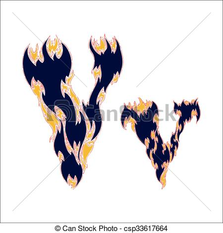 450x470 Fiery Font Blue Letter V On A White Background Clip Art Vector