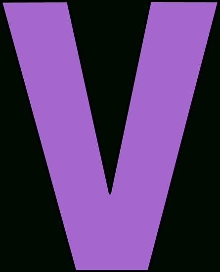 445x550 Letter V Clipart