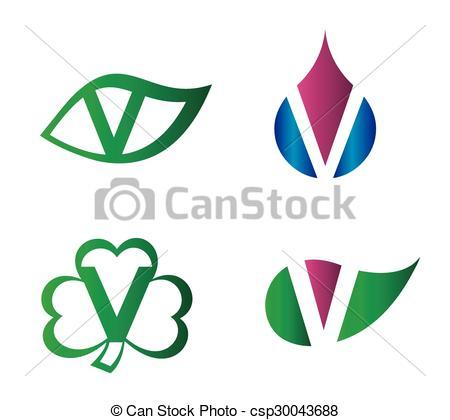 450x420 Letter V Logo Vector Alphabet Design Element Template Vector