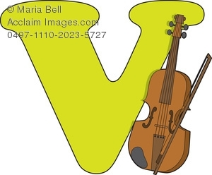 300x248 Of The Alphabet Clip Art Image The Letter V Is Violin