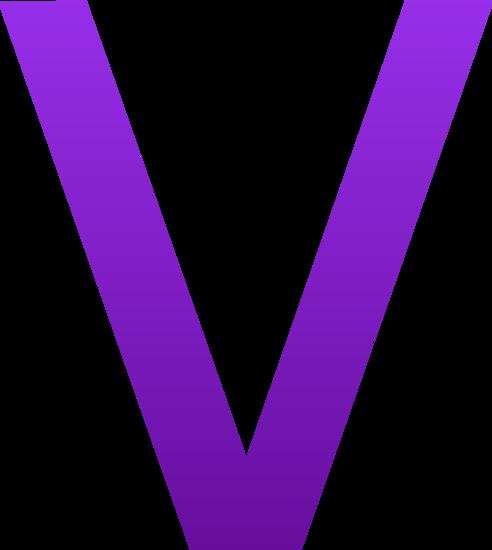 492x550 Letter V