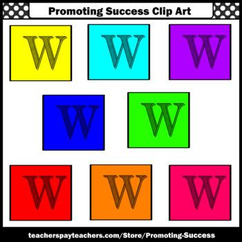 350x350 Letter W Clipart, Alphabet Clip Art, Letter Sounds Sps By