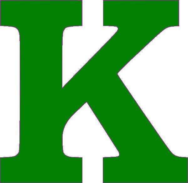 600x584 Green Letter
