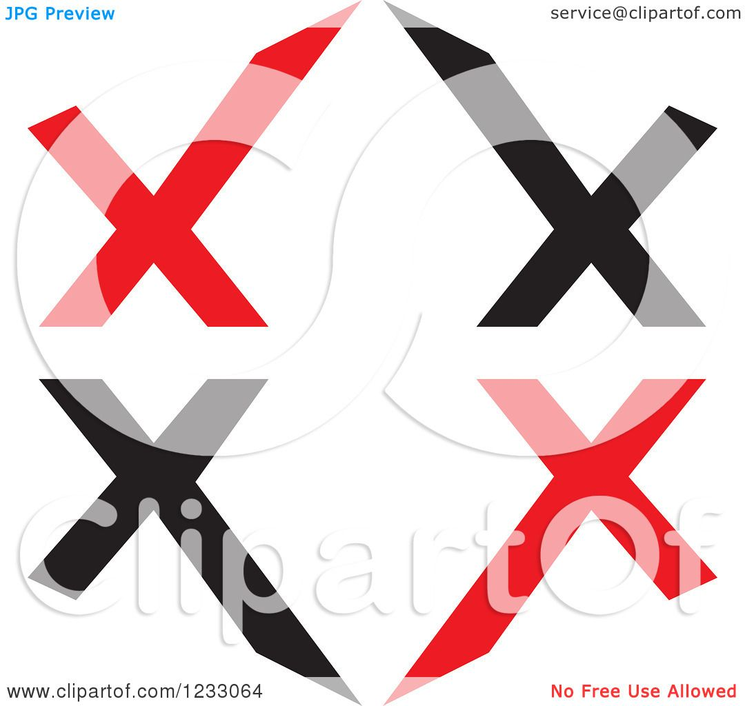 1080x1024 Clipart Of A Red And Black Letter X Logo