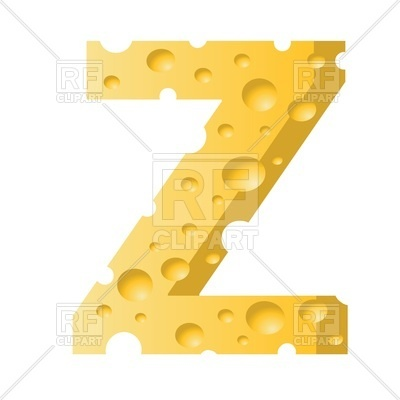 400x400 Font Made Of Cheese, Letter Z Royalty Free Vector Clip Art Image