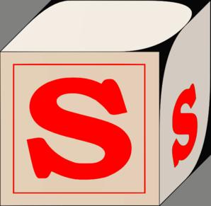 298x291 Letter S Block Red Clip Art