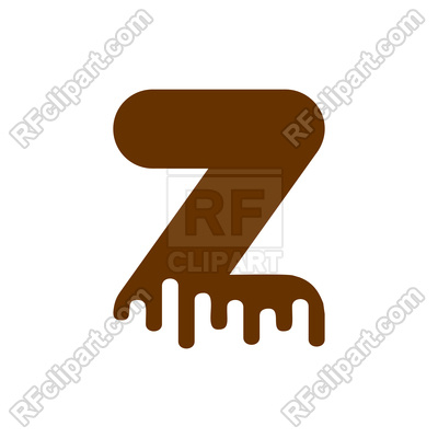 400x400 Letter Z Chocolate Font Royalty Free Vector Clip Art Image