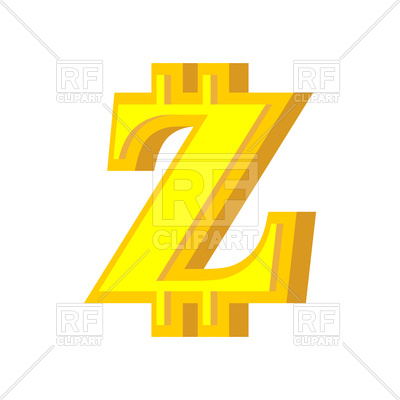 400x400 Letter Z Made Of Bitcoin Font Royalty Free Vector Clip Art Image
