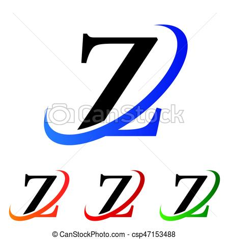 450x470 Simple Initial Letter Z Swoosh Logo Vector.