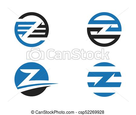 450x380 Z Letter Logo Business Template Vector Icon Vector Illustration
