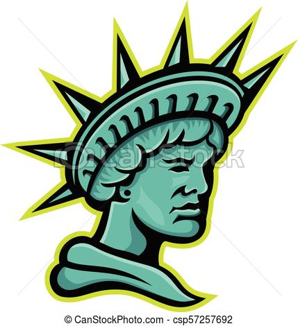 429x470 Lady Liberty Or Libertas Mascot. Mascot Icon Illustration
