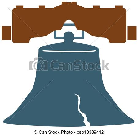 450x439 Liberty Bell Vector Clip Art