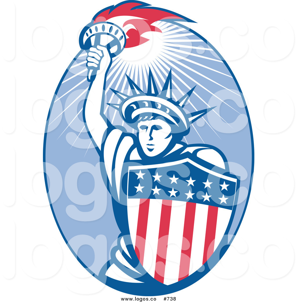 1024x1044 Royalty Free Vector Logo Of A Retro Statue Of Liberty By