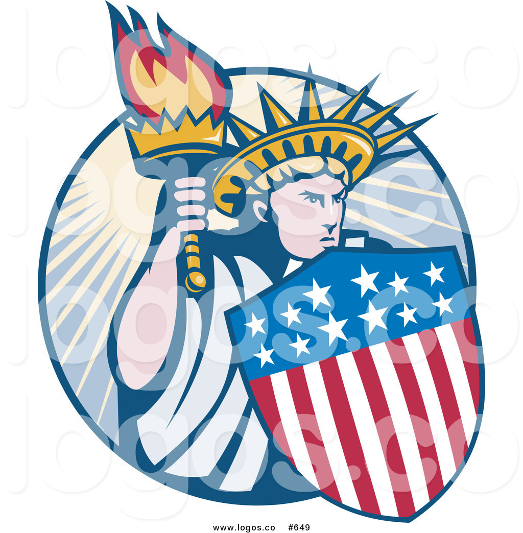 1024x1044 Royalty Free Vector Logo Of A Statue Of Liberty By Patrimonio