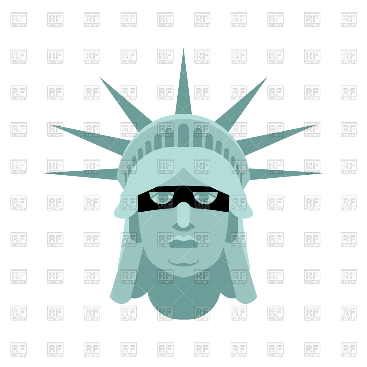 1200x1200 Statue Of Liberty In Mask Royalty Free Vector Clip Art Image